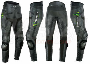 Monster Energy Pantalon en Cuir de Moto Courses MOTOGP Vestes de Motard en Cuir