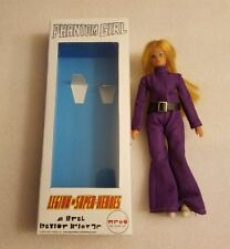 Mego Action Figure Dinah-mite with outfit 8 inch with a Phantom girl retro box.
