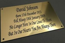 BP62 ALWAYS IN OUR HEART Gate ABS Engraved Brass Memorial Plaque Plate Grave