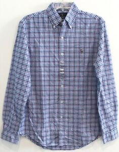 Polo Ralph Lauren Mens Blue Red Green Plaid Button-Front Shirt NWT Size S