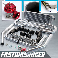 Universal 2.5'' Aluminum FMIC Intercooler Piping Kit+Red Type-RS Turbo Bov Pipe
