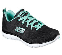 6808cba2bd Skechers High Energy Trainers Womens Flex Appeal 2.0 Sports Memory Foam  Shoes