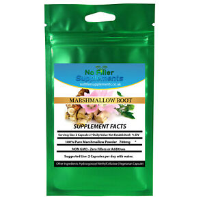 NoFillerSupplements 100% Pure Marshmallow Root (Althaea) Vegetable Capsules