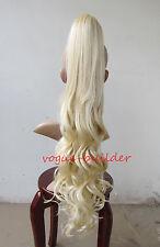 26 inch Blonde Hair-Piece Wavy Extension Ponytail 613