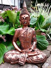 XXL Thai Buddha Budda Figur Statue Feng Shui sitzend Antik Kupfer Neu ca. 40 cm