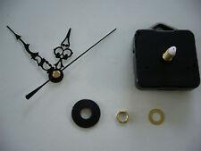 Horloge quartz mouvement courte fusée 130mm argent mains