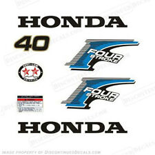 New Style! Honda 40hp 4-Stroke Outboard Decal Kit - Reproduction Decals in Stock