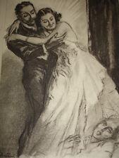 """CURIOSA /  """"LES DIABOLIQUES"""" gravure originale signée Lobel-Riche"""