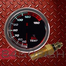 Oil Temperature Meter, Gauge - 7 Color, Smoke Lens, 12 Volt, Back Lit, 270 Deg