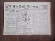 DAILY TELEGRAPH WWII NEWSPAPER JULY 9th 1943 LUFTWAFFE WORN DOWN IN SICILY