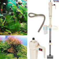Electric Aquarium Syphon Fish Tank Pump Vacuum Gravel Water Filter Wash Cleaner