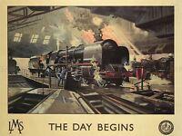 TRAVEL TOURISM STEAM TRAIN LMS RAIL UK LARGE POSTER ART PRINT BB2872A