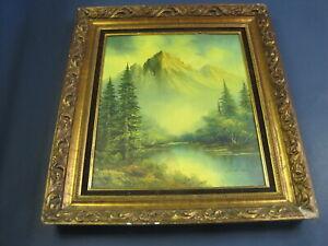 Vintage Original Joachim Lange Landscape Original Oil Painting Signed Plus T280