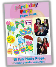 10 x Hen Stag BIRTHDAY PARTY Fun Game Gift Present Accessory Photo Booth Props