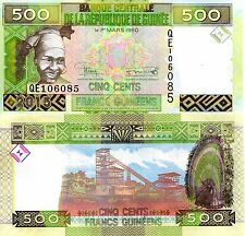 GUINEA 500 Frances Banknote World Paper Money UNC Currency Pick p-NEW 2015 BIll