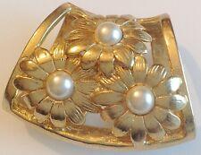 Serre Passe Foulard Bijou Vintage Art Déco couleur or et perle blanche 288