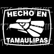 Hecho En Tamaulipas  Estado de Mexico  Aztec Aguila Decal  Vinyl Sticker