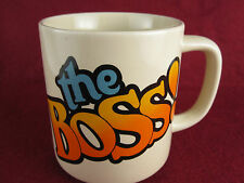 "Vintage 1986 ""The Boss"" Coffee Cup Mug Gift Funny PAULA CO. 1980's MINT! Office"