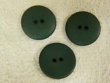 25 NEW 1 INCH DULL FINISH  CHRISTMAS GREEN BUTTONS