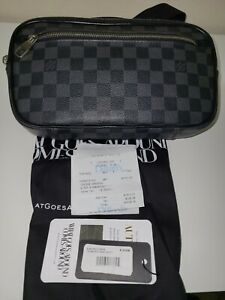 Louis Vuitton Ambler Graphite Crossbody Messenger Bag