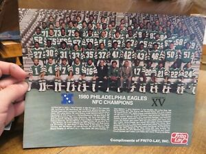 1980 PHILADELPHIA EAGLES (NFC CHAMPIONS) PRINT (Compliments of Frito-Lay)