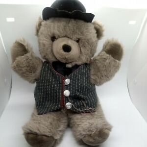 1987 Applause Anthropomorphic Plush Bear Vest and Hat