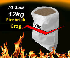 Fire Brick Grog for refractory high temp MORTAR,CEMENTS crushed firebrick 12KG
