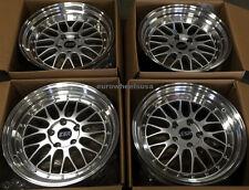 "17"" ESR SR05 Hypersilver Wheels For Toyota Corolla Celica 17x8.5 5x100 +30 Rims"