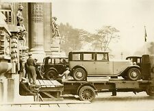 """SALON DE L'AUTOMOBILE 1931 : Installation"" Photo originale G. DEVRED (Agce ROL)"