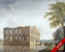 BERCKENRODE CASTLE RUINS HEEMSTEDE NETHERLANDS PAINTING ART REAL CANVAS PRINT