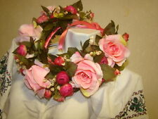 New  big Ukrainian handmade Flower Head Wreath