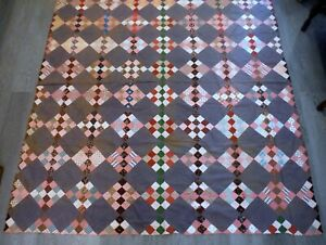 Fabulous Antique 19th c Quilt Top P1556