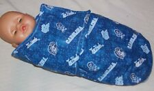 Custom Made Infant North Carolina TarHeels Blue SnuggleWrap Blanket Made in USA