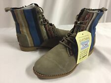 Toms Women's Alpa Boot size 5 Taupe Suede Woven