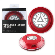 Iron Man Wireless Charger Charging Pad for Samsung GALAXY S6 Edge G925F G925FQ
