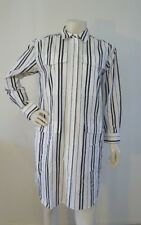 COUNTRY ROAD DRESS Long Sleeve Black White Button Front Size 8