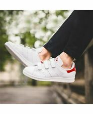 ADIDAS STAN SMITH TRAINERS WHITE/RED VELCRO UK 3 - US 3.5