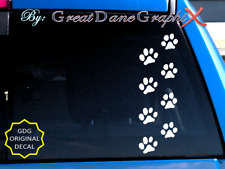 Cats Paw Prints -Vinyl Decal Sticker -Color -High Quality