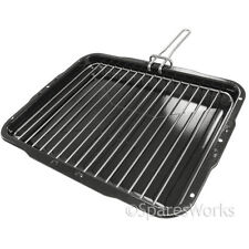 Diplomat Premium Vitreous Enamel Grill Pan & Detachable Slide Handle 386x300mm