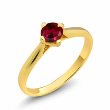 f13e99d1791511 Yellow Gold Plated Ruby Fashion Rings for sale | eBay