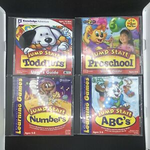 JumpStart Lot Of 4 PC Learning Edu CD-ROM Toddlers Preschool Numbers & ABC's