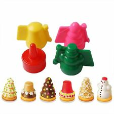 New 4PCS Christmas Shape Cookies Cutter Pasty Cake Decor DIY Molud Mold Tools