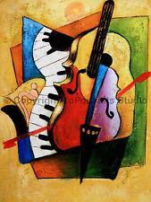 "Musical Instruments, Original Still Life Oil Painting on Canvas Art, 26"" x 34"""