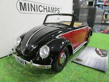 VOLKSWAGEN BEETLE de 1949 noir et bordeaux au 1/18 MINICHAMPS 107054230 miniatur
