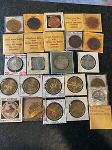 HUGE PONY EXPRESS SO CALLED DOLLAR 25 COIN COLLECTION OREGON TRAIL SILVER BRONZE