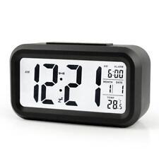 Digital Alarm Clock Battery Operated Clock Temperature Snooze Large Display NEW