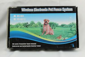 Wireless Fence Pet Dog Waterproof Containment System Collar All Size Dogs 550Yd
