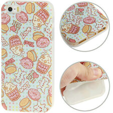 Smart Protectors! Softcase Hülle Cover für iPhone SE / 5 / 5S Popcorn & Donuts