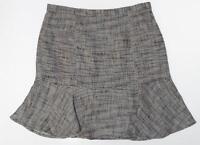 NINE WEST Women's Tweed Flounce Skirt size 10 Wear To Work Career medium