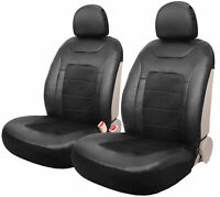 Leader Accessories Apple Jacquard 2ps Car Seat Covers Low Back Black with Airbag for Truck SUV Front Seats
